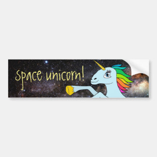 Space Unicorn! Bumper Sticker