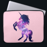 "Space unicorn laptop sleeve<br><div class=""desc"">Beautiful unicorn mixed with a nebula space.</div>"
