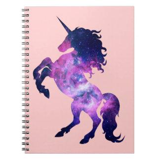Space unicorn spiral notebooks