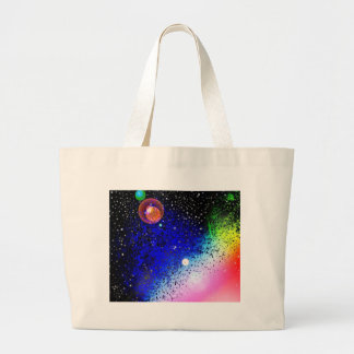 Space Universe Universal Sky Pink Digital Design A Tote Bags