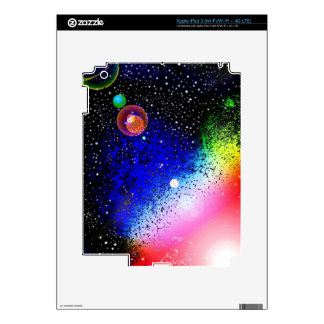 Space Universe Universal Sky Pink Digital Design A Decals For iPad 3