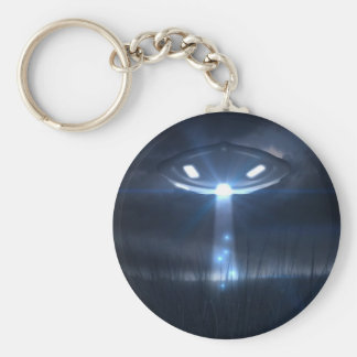 Space visitors basic round button keychain