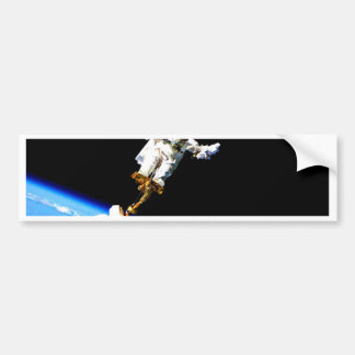 space walk astronaut international space station bumper sticker