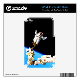 space walk astronaut international space station iPod touch 4G skins
