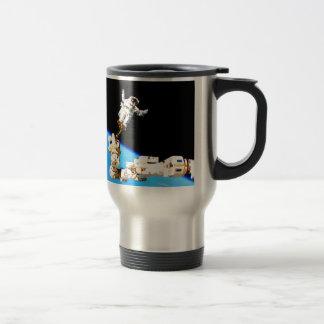 space walk astronaut international space station travel mug