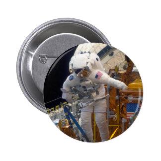 Space walk pinback button