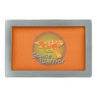 Space Warrior Rectangular Belt Buckle