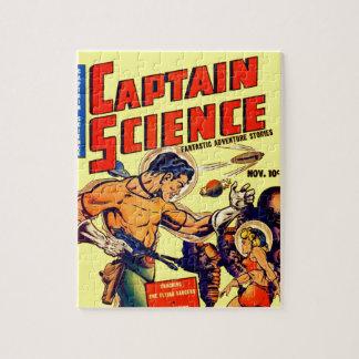 Space Warrior Vintage Science Fiction Comic Jigsaw Puzzle