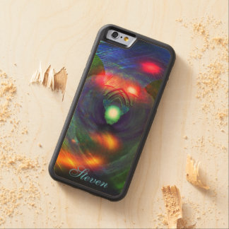 Space wars/Bird Of Prey on a Wood iPhone 6 case