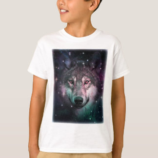 Space Wars Wolf Face Animal Design T-Shirt