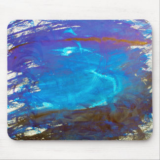 Space Water Blue Abstract Art Mouse Pad