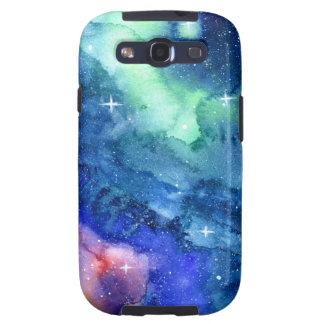 Space Watercolor Art Case Samsung Galaxy SIII Case
