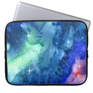 Space Watercolor Art Laptop Case Computer Sleeve