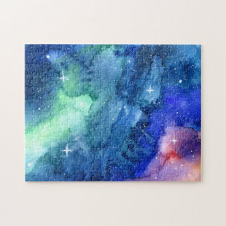 Space Watercolor Art Puzzle