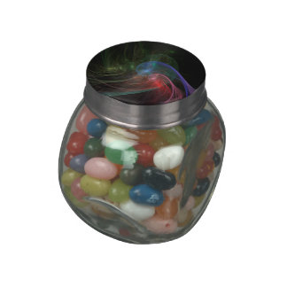 Space Wave Glass Candy Jars