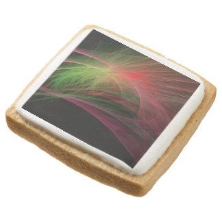 Space Wave Square Premium Shortbread Cookie