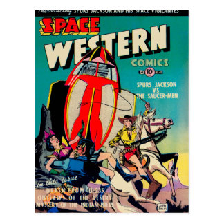 Space Western Comics Postcard