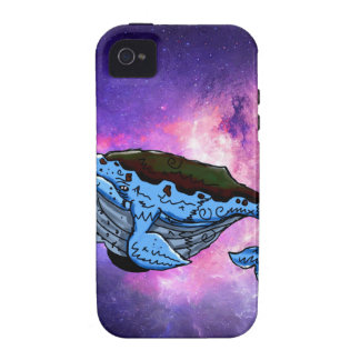space whale iPhone 4/4S cover