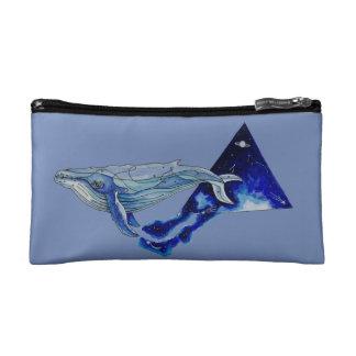 space whale makeup bag