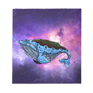 space whale note pad