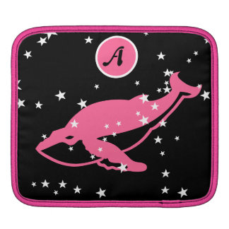 space whale PINK ipad sleeve