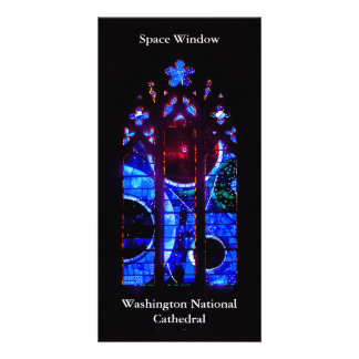 Space Window at Washington National Cathedral Card