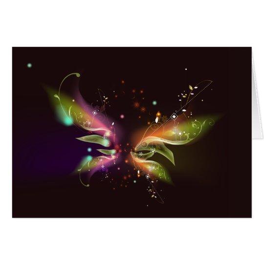 Space Wings: Vector Art: Card