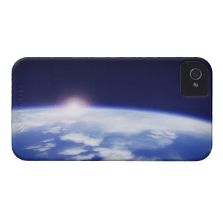 Space with rising sun above planet earth Case-Mate iPhone 4 case