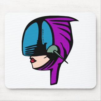 Space Woman Mouse Pad
