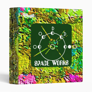 SPACE WORKS - ROCK  & ROCKET SCIENCE BINDER