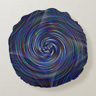 space wormhole computer imagined graphic round pillow