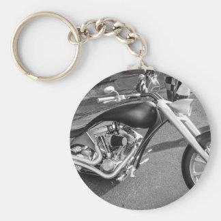 Spaceage Motorcycle Basic Round Button Keychain