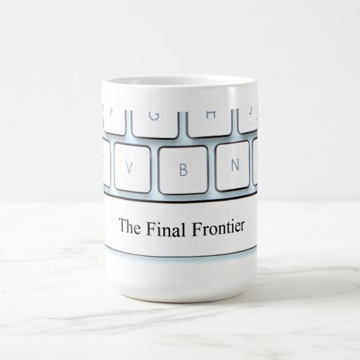 Spacebar, the final frontier classic white coffee mug