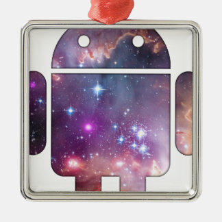 Spacebot Metal Ornament