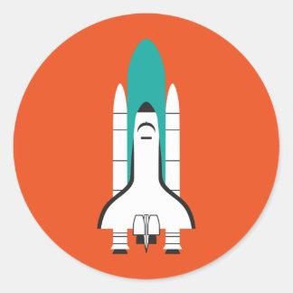 spacecraft classic round sticker