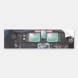 Spacecraft Console Car Bumper Sticker