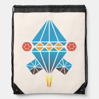 Spacecraft Drawstring Bag