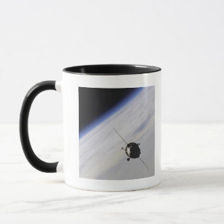 Spacecraft in outer space mug