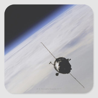 Spacecraft in outer space sticker