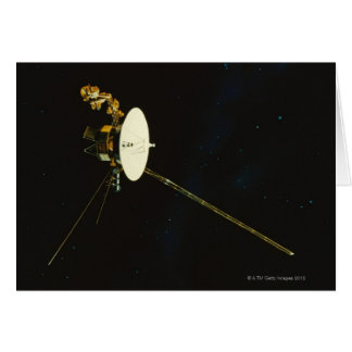 Spacecraft in Space Card