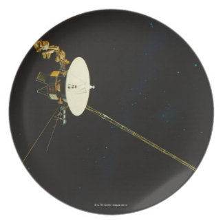 Spacecraft in Space Dinner Plate
