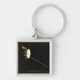 Spacecraft in Space Keychain