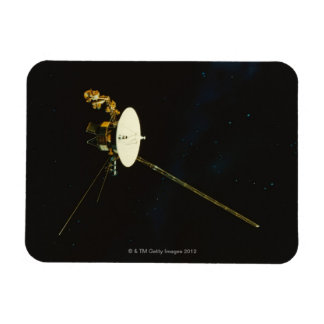Spacecraft in Space Rectangular Photo Magnet