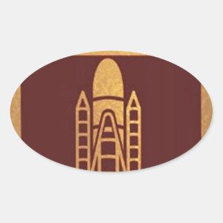 SPACECRAFT space craft Oval Sticker
