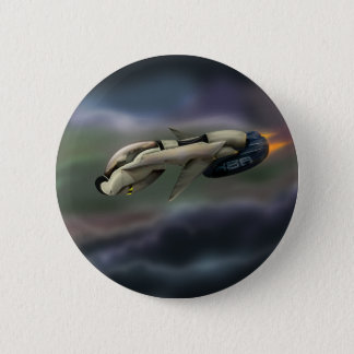 Spacecraft Space cruiser illustration Button