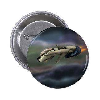 Spacecraft Space cruiser illustration Button