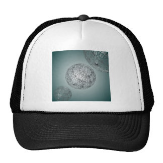 Spaced out 3d design mesh hat