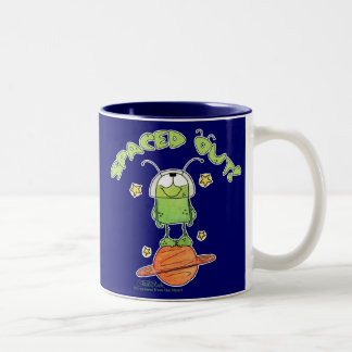 Spaced Out Alien Two-Tone Coffee Mug