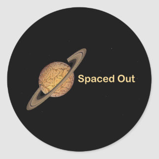 Spaced Out Classic Round Sticker