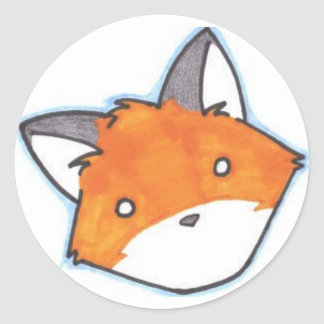 Spaced Out Fox Sticker